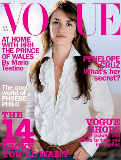 Vogue - Penelope Cruz - February, 2002. Penelope Cruz - February, 2002