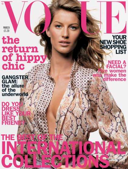Vogue - Gisele Bundchen - March, 2002