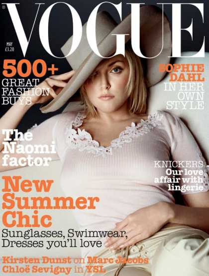 Vogue - Sophie Dahl - May, 2002