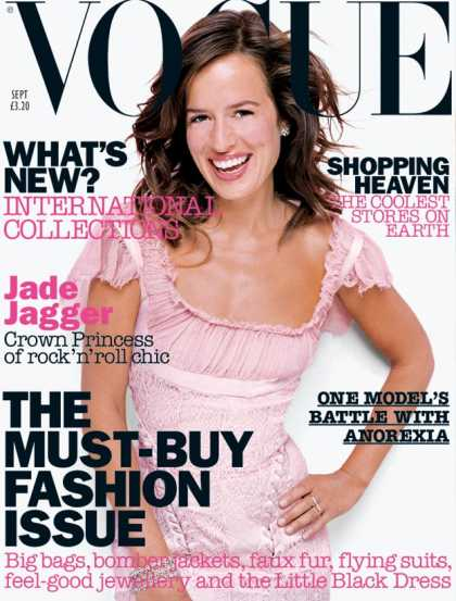 Vogue - Jade Jagger - September, 2002
