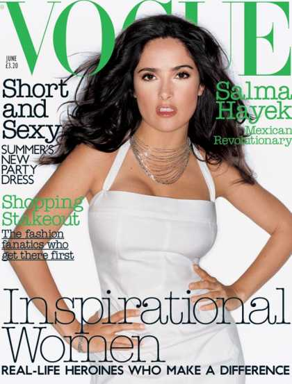 Vogue - Salma Hayek - June, 2003