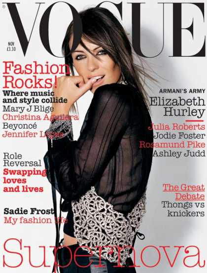 Vogue - Elizabeth Hurley - November, 2003