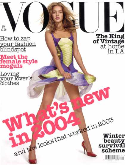 Vogue - Natalia Vodianova - January, 2004