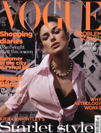 Vogue - Keira Knightley - July, 2004