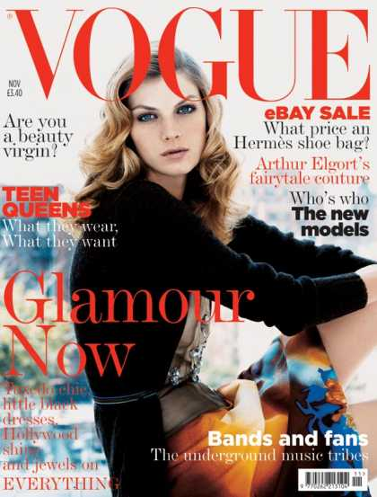 Vogue - Angela Lindvall - November, 2004