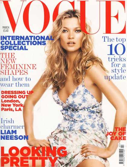 Vogue - Kate Moss - March, 2005
