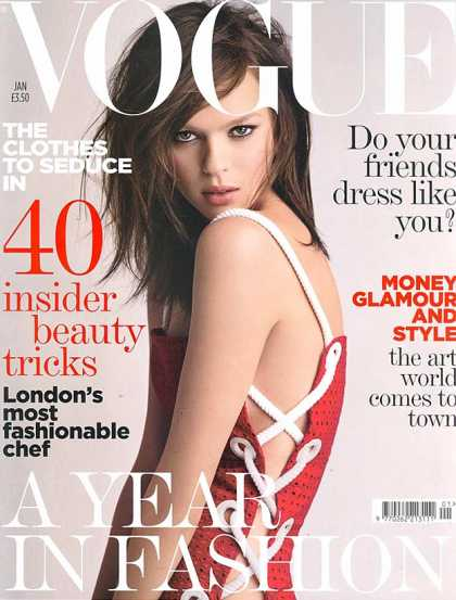 Vogue - Elise Crombez - January, 2006