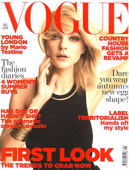 Vogue - Jessica Stam - August, 2006
