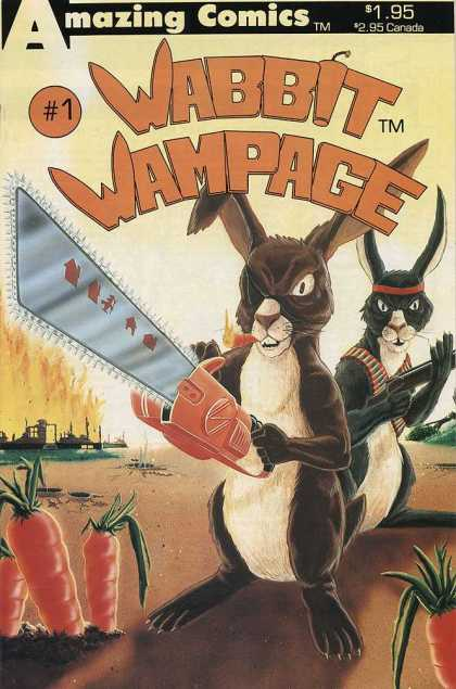 Wabbit Wampage 1 - Chainsaw - Carrots - Gun - Eyepatch - Number 1