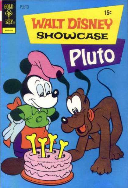 Walt Disney Showcase 13 - Pluto - Gold Key - Mickey Mouse - Cake - Bones