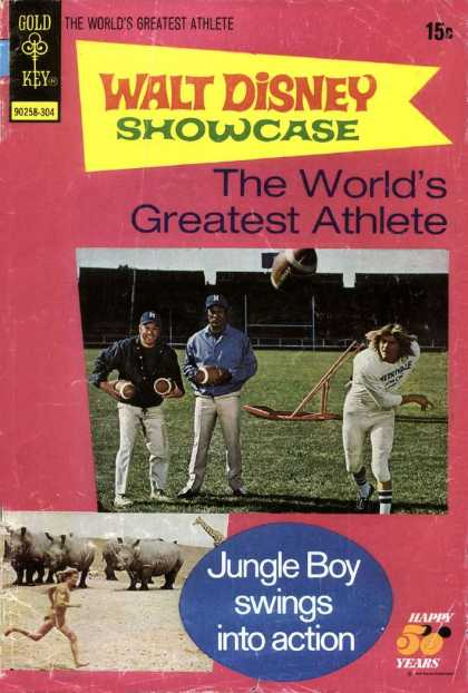 Walt Disney Showcase 14 - Walt Disnep - The Worlds Greatest Athelete - Gold Key - Jungle Boy - Swings
