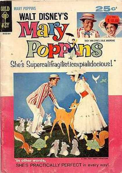 Walt Disney Showcase 17 - Walt Disney - Shessupercalifragalisticexpialidosious - Shes Practically Perfect - Gold Key - In Other Words