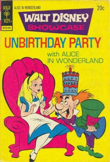 Walt Disney Showcase 22 - Alice - Pink Chair - Birthday Cake - Green Hat - Green Shoes