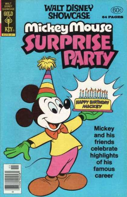 Walt Disney Showcase 47 - Mickey Mouse - Disney - Birthday - Cake - Party Hat