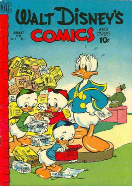 Walt Disney's Comics and Stories 107 - Donald Duck - Huey Louy And Dewey - Free Samples - Mailman - Dell