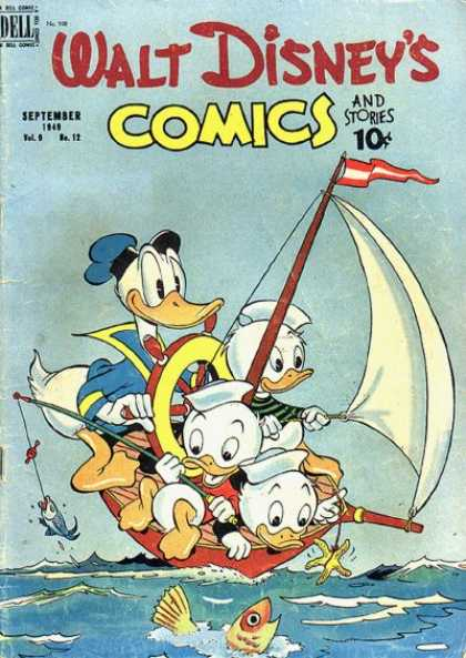 Walt Disney's Comics and Stories 108 - Dell - September - 10 Cents - Donald - Boat