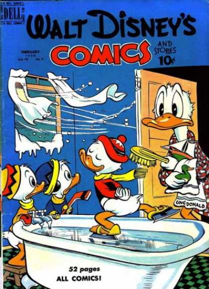 Walt Disney's Comics and Stories 113 - Donald Duck - Bathtub - Snow - Rubber Duck - Ice Skates