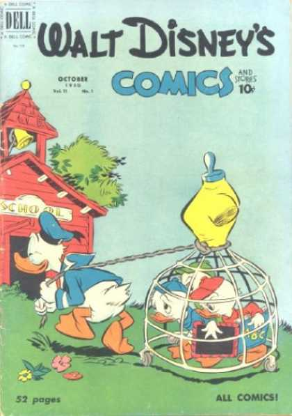 Walt Disney's Comics and Stories 121 - Cage - Donald Duck - Mannquin - School - Nephews