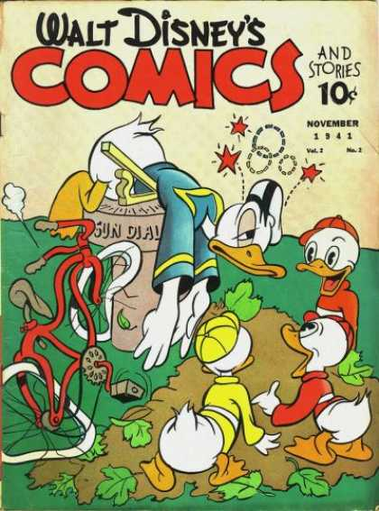 Walt Disney's Comics and Stories 14 - Donald - Duck - Sun Dial - Bike - Wreck