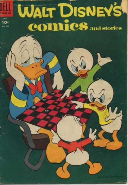 Walt Disney's Comics and Stories 175 - Dell - 10 Cents - Checkers - Donald - Nephews
