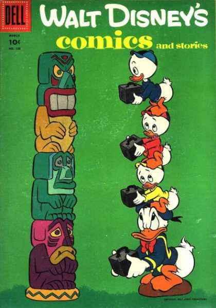 Walt Disney's Comics and Stories 186 - Totem Pole - Donald Duck - Huey - Offerings - Black Box
