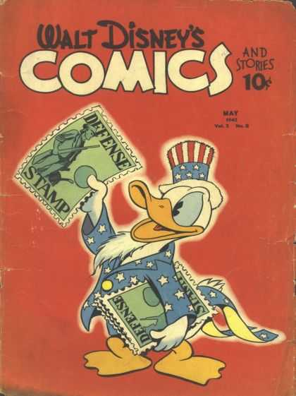 Walt Disney's Comics and Stories 20 - Disney - Donald Duck - Defense Stamps - Stars And Stripes - Beard