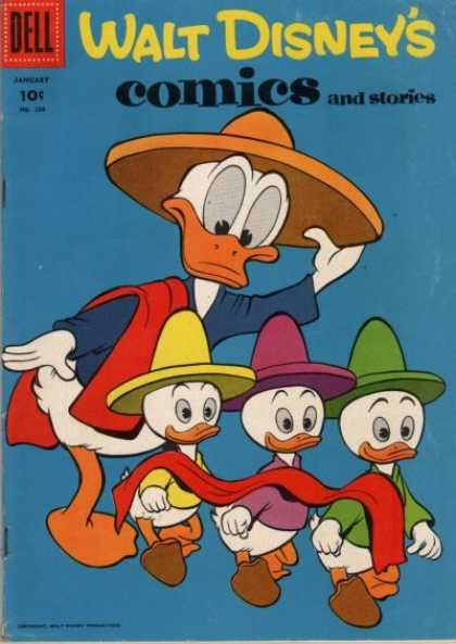 Walt Disney's Comics and Stories 208 - Dell - Cap - January - Original Art - Towell