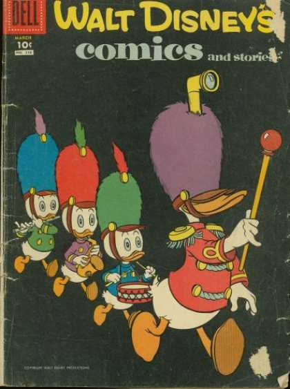Walt Disney's Comics and Stories 210 - Marching - Band Hats - Ducks - Drum - Scope