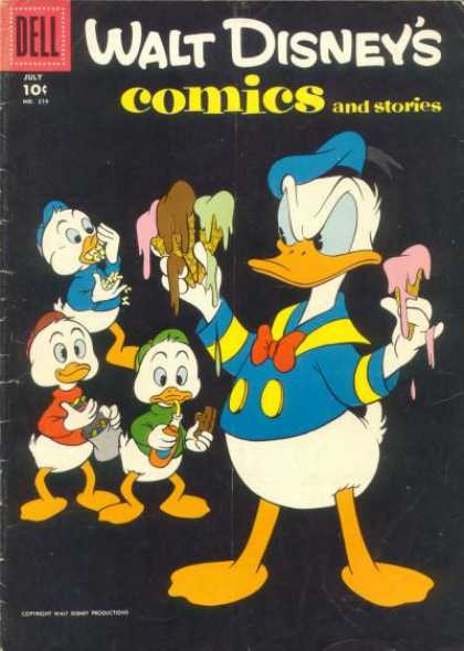 Walt Disney's Comics and Stories 214 - Overeating - Fat - Ice Cream - Obesity - Soda