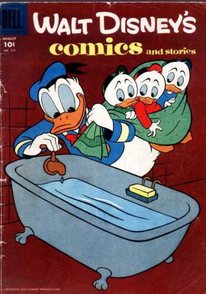 Walt Disney's Comics and Stories 215 - Huey - Duey - Luey - Donald - Dell