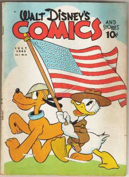 Walt Disney's Comics and Stories 22 - Flag - Flying Flag - Walking - Hat - Pet
