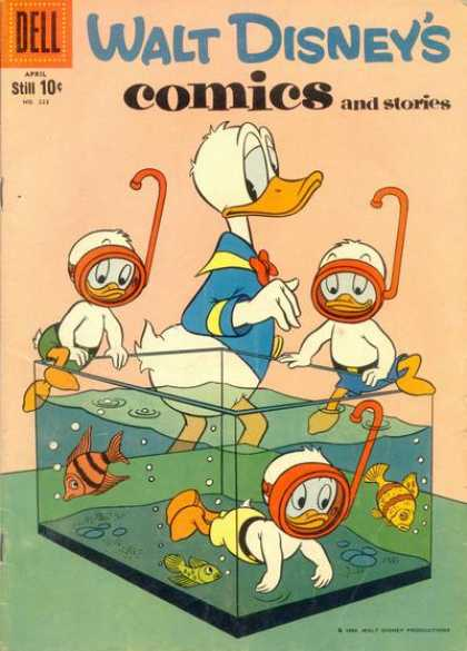 Walt Disney's Comics and Stories 223 - Donald - Huey - Duey - Luey - Dell
