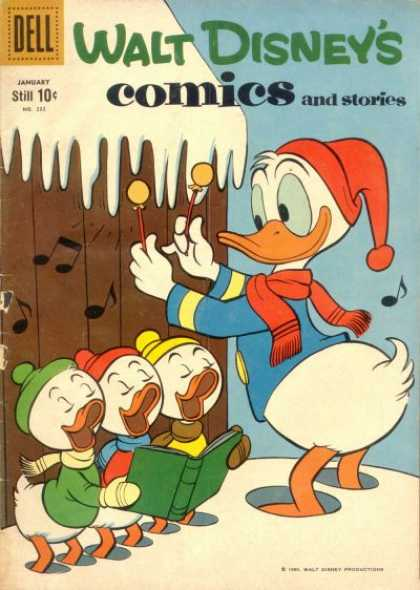 Walt Disney's Comics and Stories 232 - Dell - Donald Duck - Music Notes - Snow - Scarf
