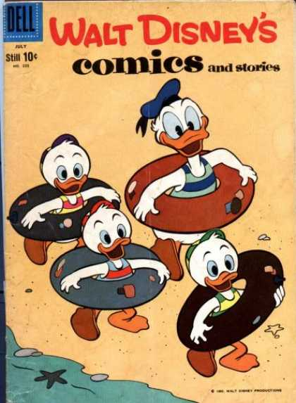 Walt Disney's Comics and Stories 238 - Donald Duck - Sand - Beach - Ocean - Starfish