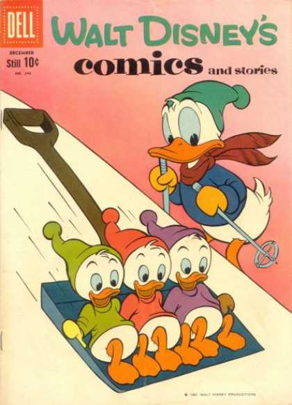 Walt Disney's Comics and Stories 243 - Donald Duck - Huey Dewey And Louie - Sleding - Disney - Donald Ducks Nephews