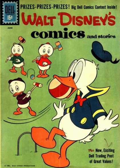 Walt Disney's Comics and Stories 249 - Donald Duck - Sailor Suit - Huey Louie U0026 Dewey - Croquet Mallets - Croquet Balls