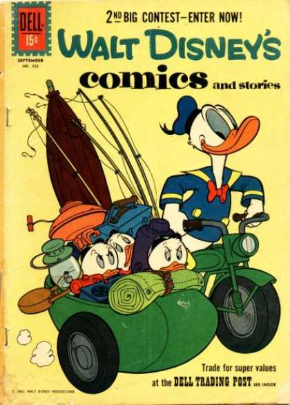 Walt Disney's Comics and Stories 252 - Dell - 2nd Big Contest - Enter Now - September - Donald Duck - Bike