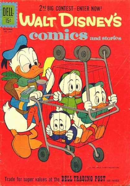 Walt Disney's Comics and Stories 253 - Donald Duck - Huey Dewey U0026 Louie - Grocery Shopping - Grocery Carts - Food