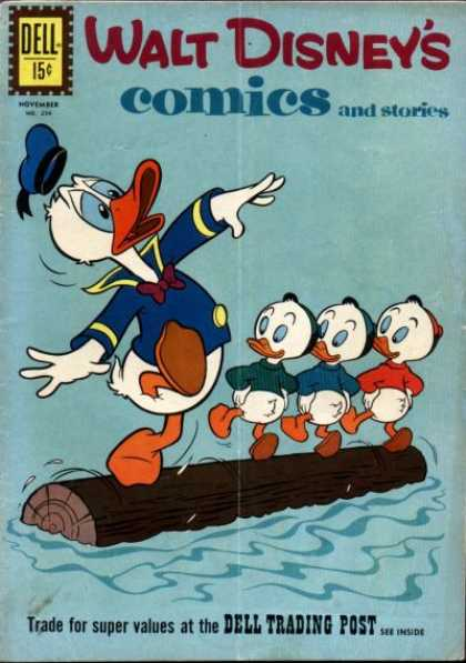 Walt Disney's Comics and Stories 254 - Donald Duck - Huey - Dewey - Louie - Log Rolling