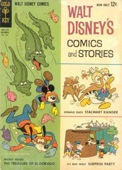 Walt Disney's Comics and Stories 266 - Gold Key - Mickey - Goofy - Donald Duck - Scuba Diving