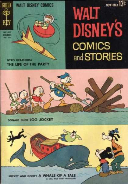 Walt Disney's Comics and Stories 267 - Adventures On The Ocean - Donald The Survivor - Save Us Mickey - Lost In Space - Captain Donald Duck