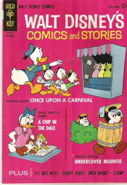 Walt Disney's Comics and Stories 279 - Gold Key - Donald - Carnival - Daisy Duck - Huey