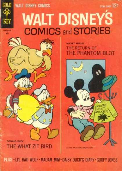 Walt Disney's Comics and Stories 284 - Phantom Blot - What-zit Bird - Donald Duck - Daisy Duck - Goofy