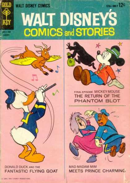 Walt Disney's Comics and Stories 287 - Robbed Mouse - Duck Playing Flute - Flying Goat - Police Dog - Old Woman