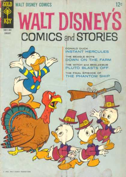 Walt Disney's Comics and Stories 292 - Duck - Turkey - Gun - Hunting - Pilgrim