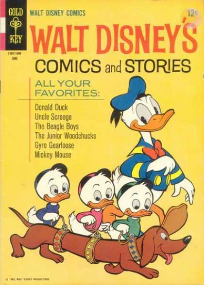 Walt Disney's Comics and Stories 297 - Donald Duck - Huey - Dewey - Louie - Weiner Dog