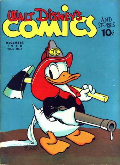 Walt Disney's Comics and Stories 3 - Donald Duck - December 1949 - Vol 2 - No 3 - Fireman
