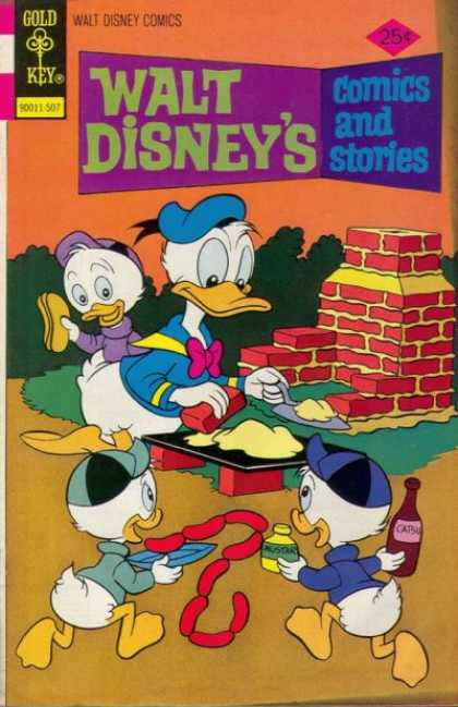 Walt Disney's Comics and Stories 418 - Donald - Ducks - Bread - Gold Key - Running Ducks