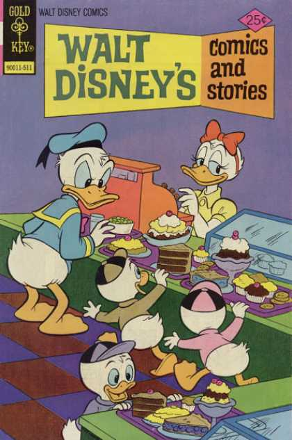 Walt Disney's Comics and Stories 422 - Gold Key - Donald Duck - Dafne - Cake - Ice Cream