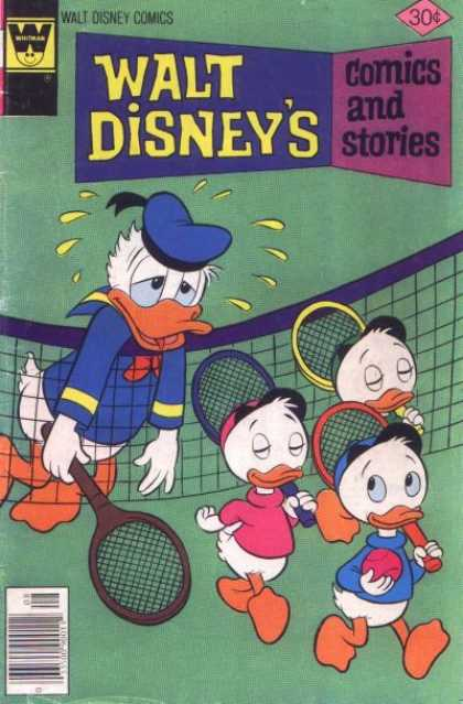 Walt Disney's Comics and Stories 443 - Duck - Tennis - Ball - Net - Exhaustion